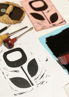 Block print making workshop at The Creative Fringe Penrith