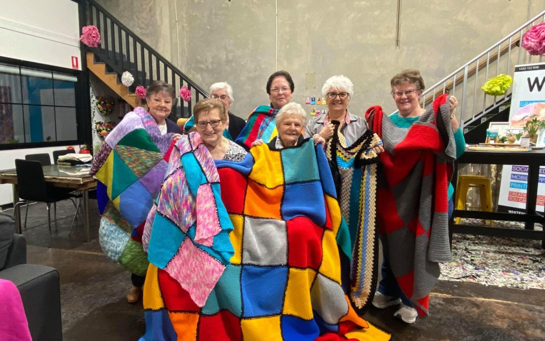 The Living Choice Ladies Knit up a Storm